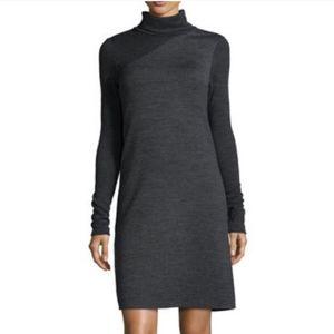 Theory Tajello houndstooth turtleneck dress
